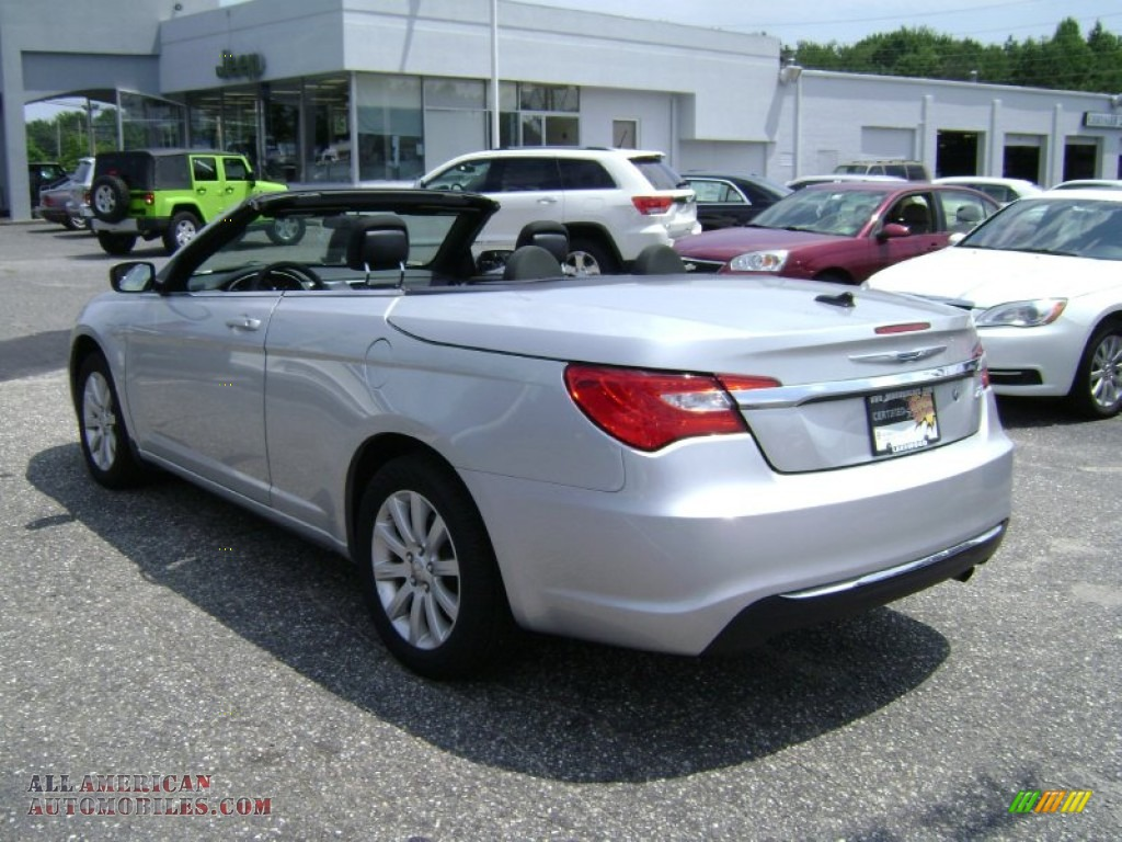 2012 chrysler 200 touring convertible in bright silver. Black Bedroom Furniture Sets. Home Design Ideas