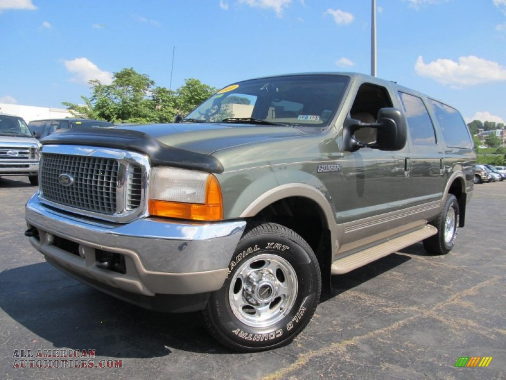 2000 ford excursion limited 4x4 in estate green metallic c00149 all american automobiles. Black Bedroom Furniture Sets. Home Design Ideas