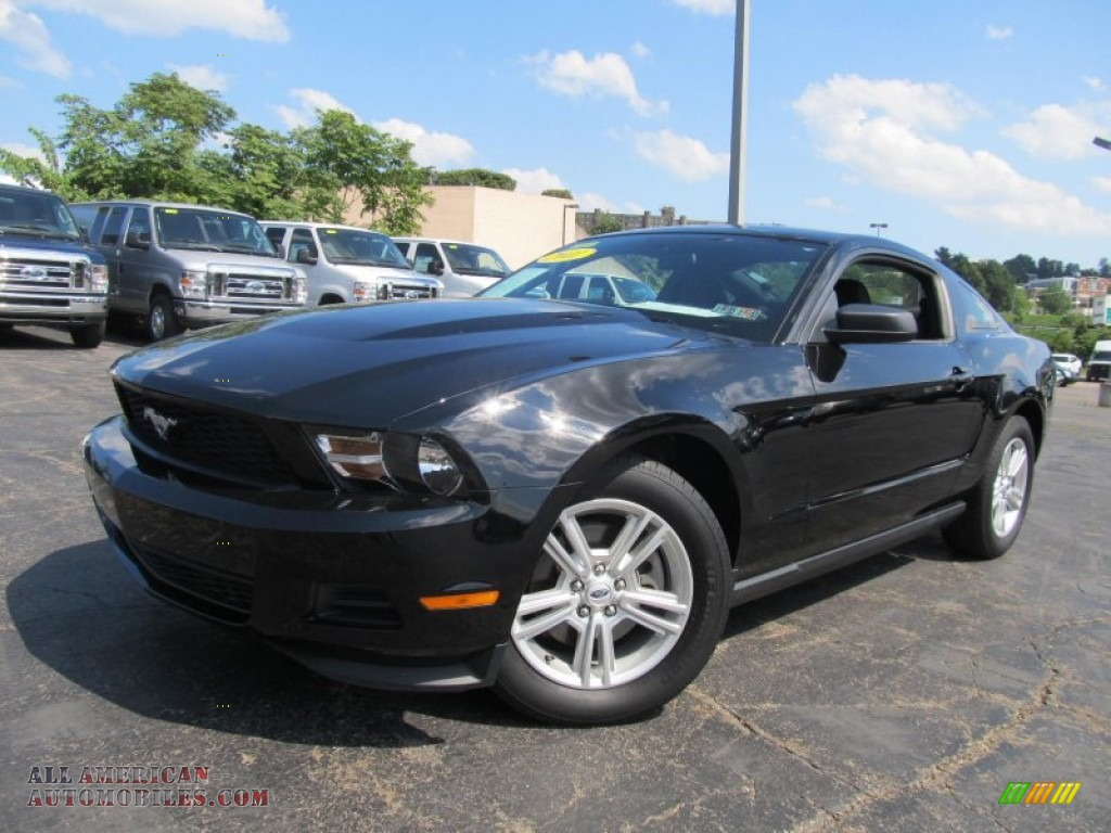 2011 ford mustang v6 coupe in ebony black 149474 all american automobiles buy american. Black Bedroom Furniture Sets. Home Design Ideas