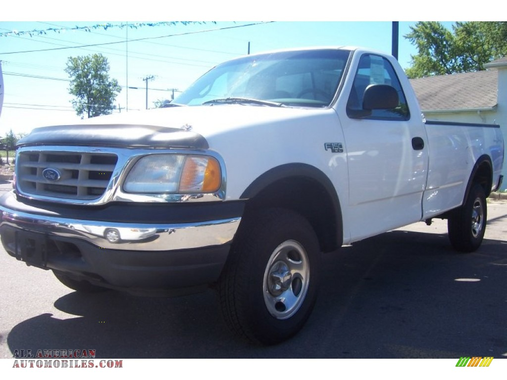 2000 Ford F150 Xl Regular Cab 4x4 In Oxford White Photo