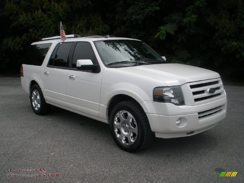2010 ford expedition el limited in white platinum tri coat metallic a81769 all american. Black Bedroom Furniture Sets. Home Design Ideas