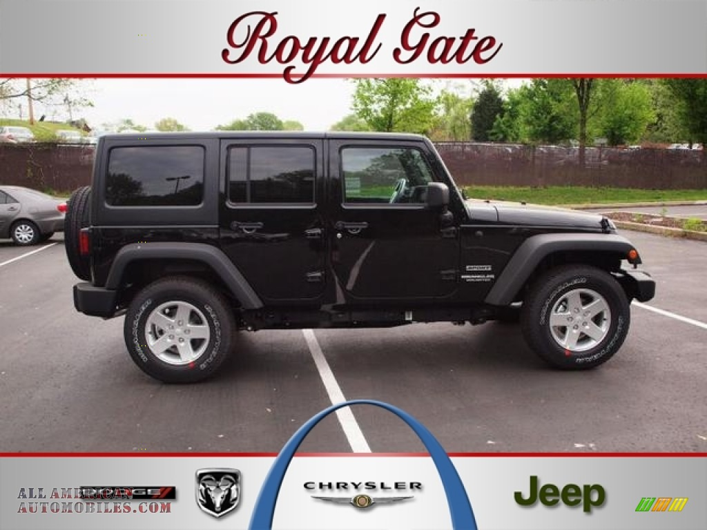 2012 jeep wrangler unlimited sport s 4x4 in black 218238 for Royal chrysler motors inc