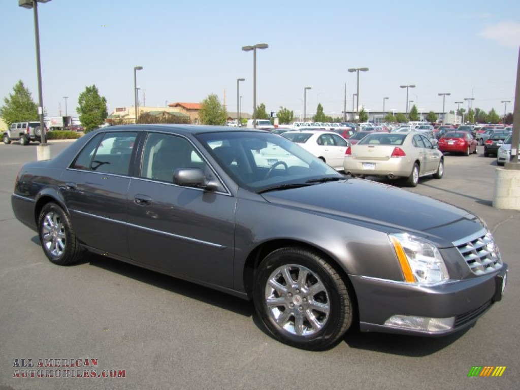 2009 cadillac dts in gray flannel 106397 all american. Black Bedroom Furniture Sets. Home Design Ideas