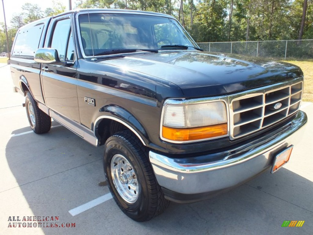 1995 ford f150 xl regular cab 4x4 in black a73893 all american automobiles buy american. Black Bedroom Furniture Sets. Home Design Ideas