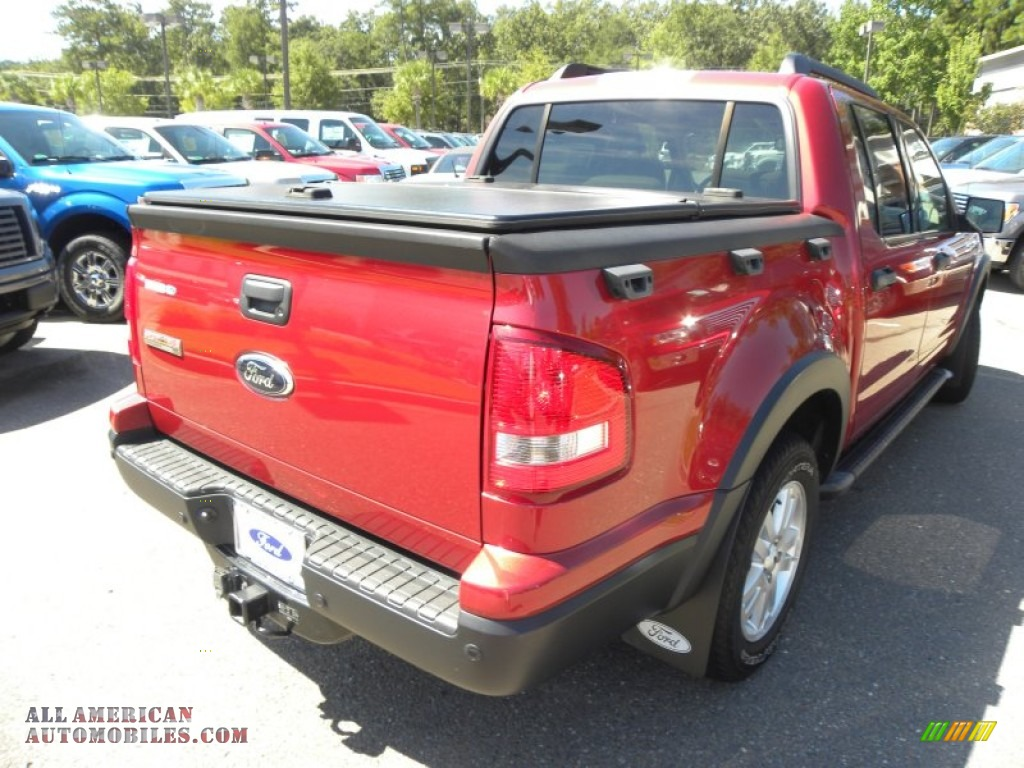 2007 Ford Explorer Sport Trac Xlt In Red Fire Photo 12