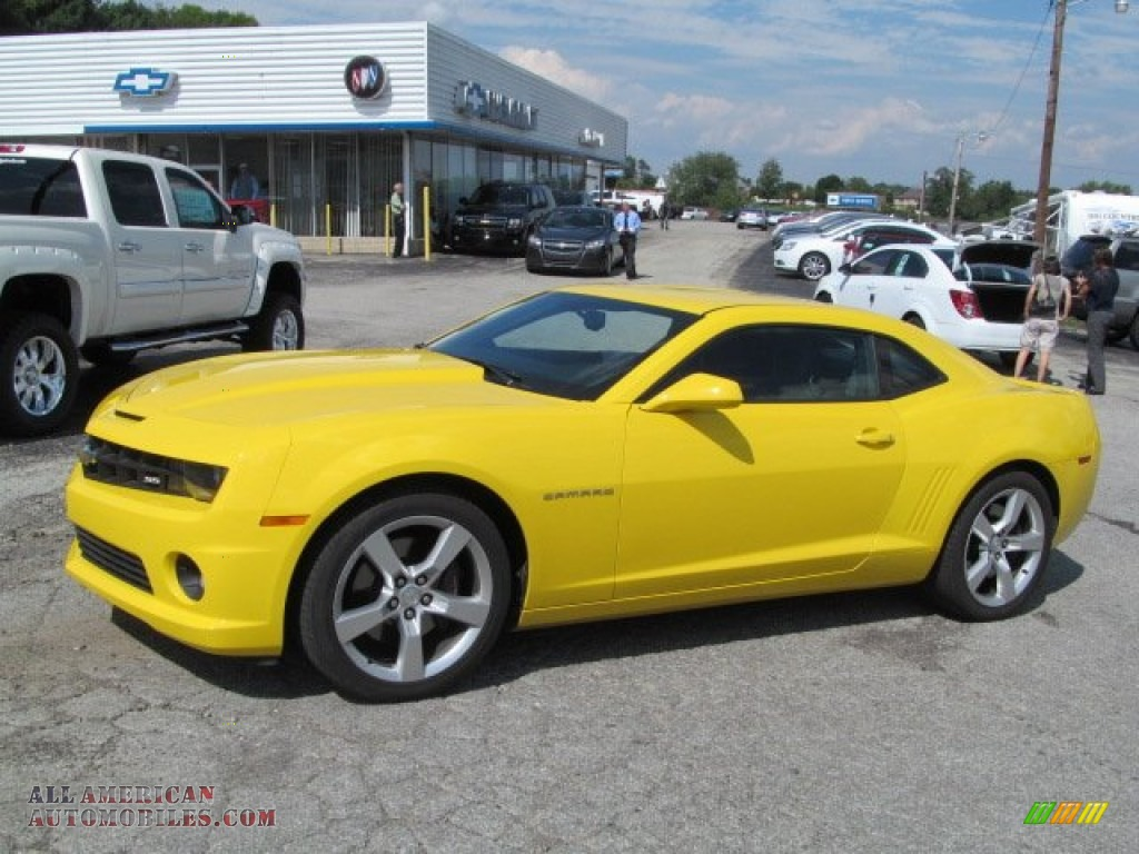2012 chevrolet camaro ss coupe in rally yellow 100521 all american automobiles buy. Black Bedroom Furniture Sets. Home Design Ideas