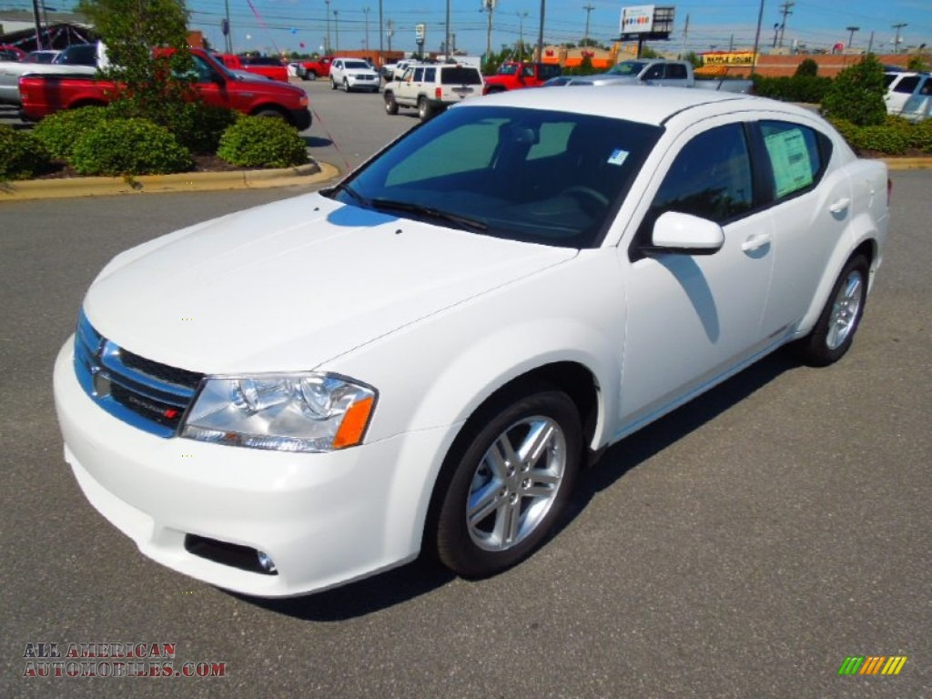 2013 dodge avenger sxt in new bright white 557259 all. Black Bedroom Furniture Sets. Home Design Ideas