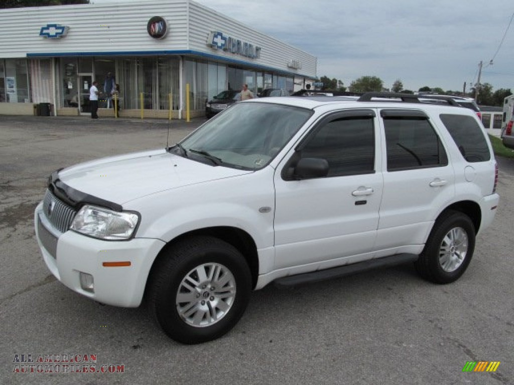 2005 mercury mariner v6 premier 4wd in oxford white. Black Bedroom Furniture Sets. Home Design Ideas