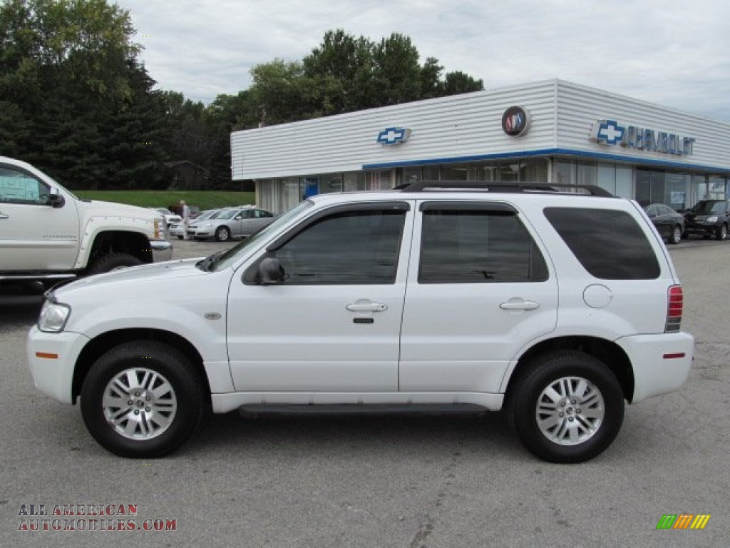 2005 mercury mariner v6 premier 4wd in oxford white photo. Black Bedroom Furniture Sets. Home Design Ideas
