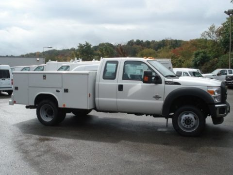 Oxford White 2012 Ford F450 Super Duty XL SuperCab Chassis 4x4