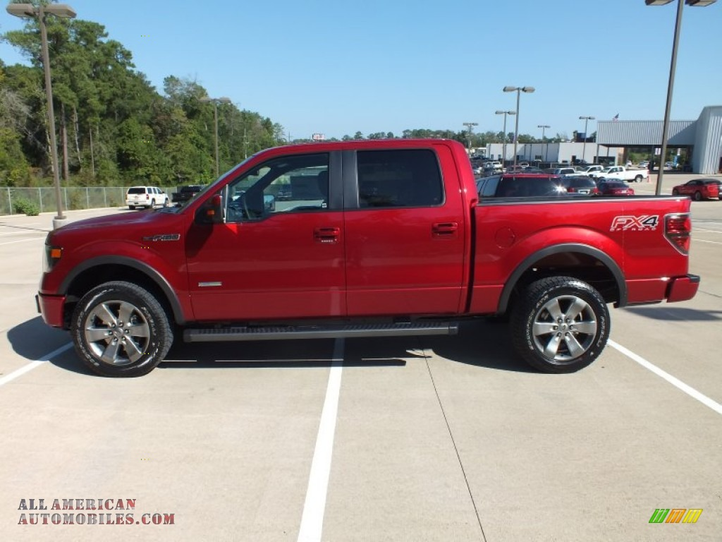 2013 Ford F150 Fx4 Supercrew 4x4 In Ruby Red Metallic