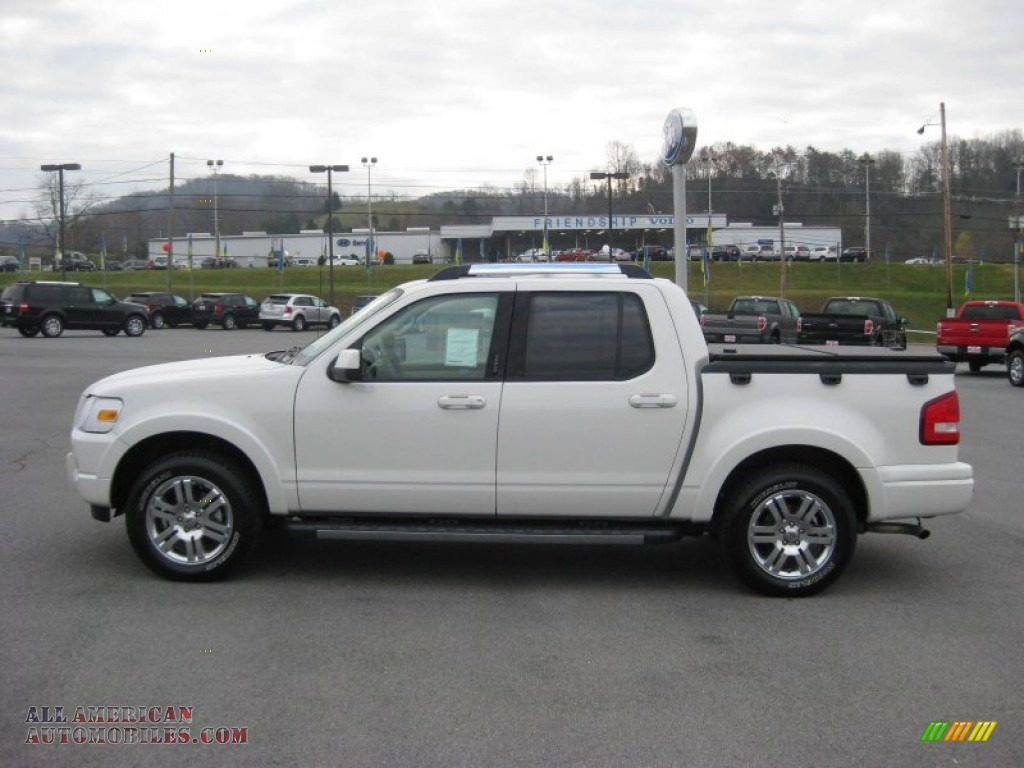 2010 ford explorer sport trac limited 4x4 in white suede f06951 all american automobiles. Black Bedroom Furniture Sets. Home Design Ideas
