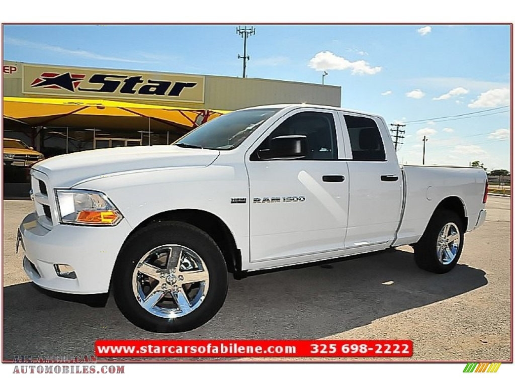 2012 dodge ram 1500 express quad cab 4x4 in bright white 304288. Cars Review. Best American Auto & Cars Review