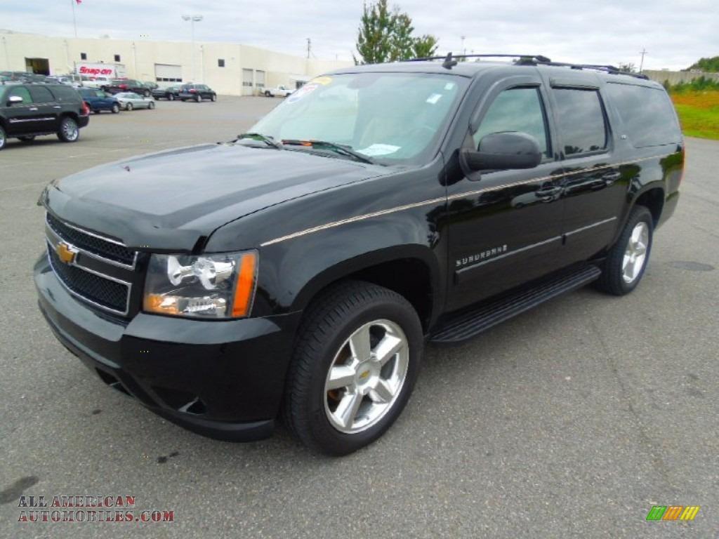 2007 chevrolet suburban 1500 ltz 4x4 in black 258109 all american automobiles buy american. Black Bedroom Furniture Sets. Home Design Ideas
