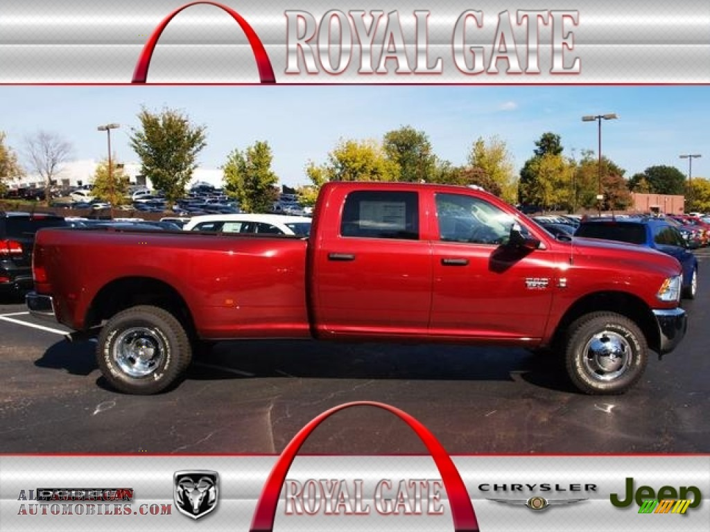 2012 dodge ram 3500 hd st crew cab 4x4 dually in deep cherry red crystal pearl 290085 all. Black Bedroom Furniture Sets. Home Design Ideas