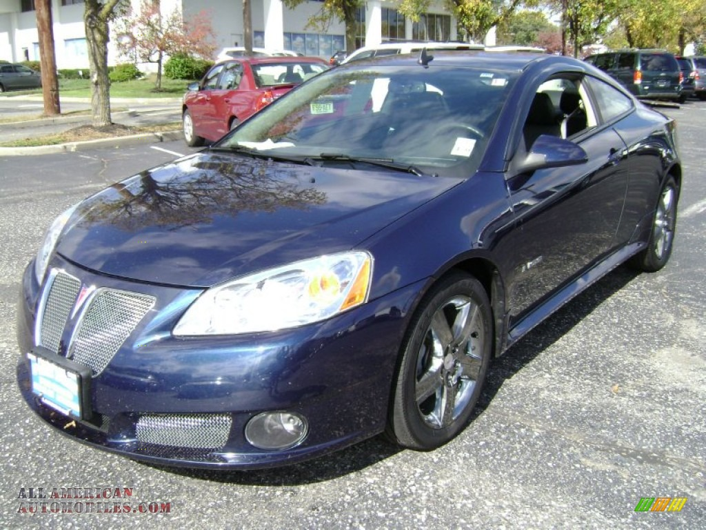 2009 pontiac g6 gxp coupe in midnight blue metallic 172867 all american automobiles buy. Black Bedroom Furniture Sets. Home Design Ideas
