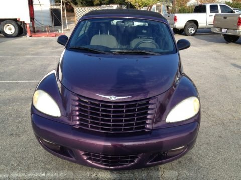 Dark Plum Pearl 2005 Chrysler PT Cruiser Touring Turbo Convertible