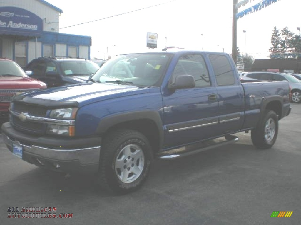 2004 Silverado 1500 Z71 Extended Cab 4x4 - Arrival Blue Metallic / Dark Charcoal photo #1