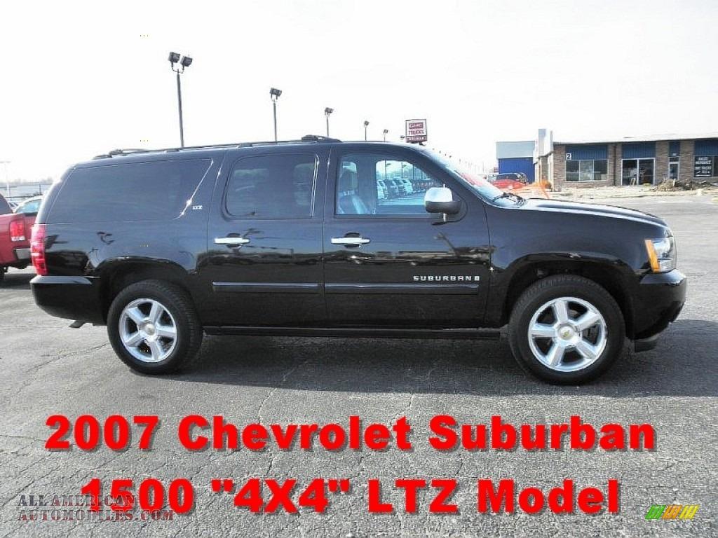 2007 chevrolet suburban 1500 ltz 4x4 in black 258523 all american automobiles buy american. Black Bedroom Furniture Sets. Home Design Ideas