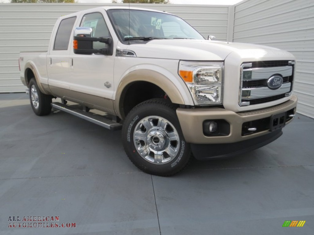 2013 ford f250 super duty king ranch crew cab 4x4 in white platinum tri coat a32704 all. Black Bedroom Furniture Sets. Home Design Ideas