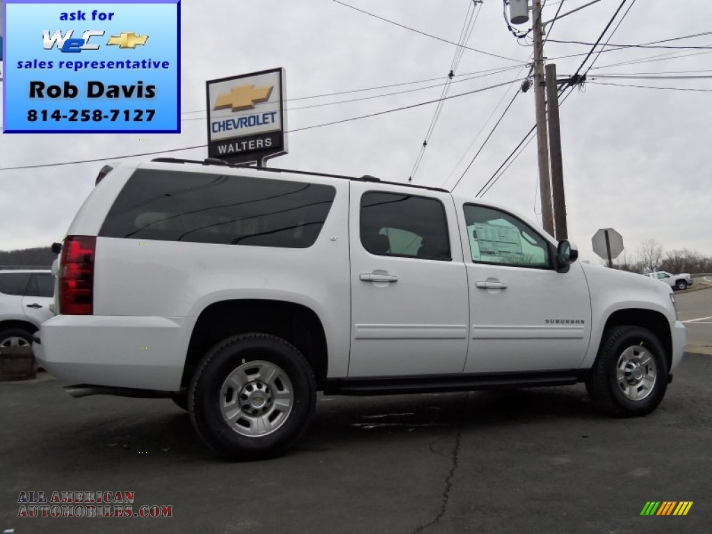 2013 chevrolet suburban 2500 lt 4x4 in summit white 235189 all american automobiles buy. Black Bedroom Furniture Sets. Home Design Ideas