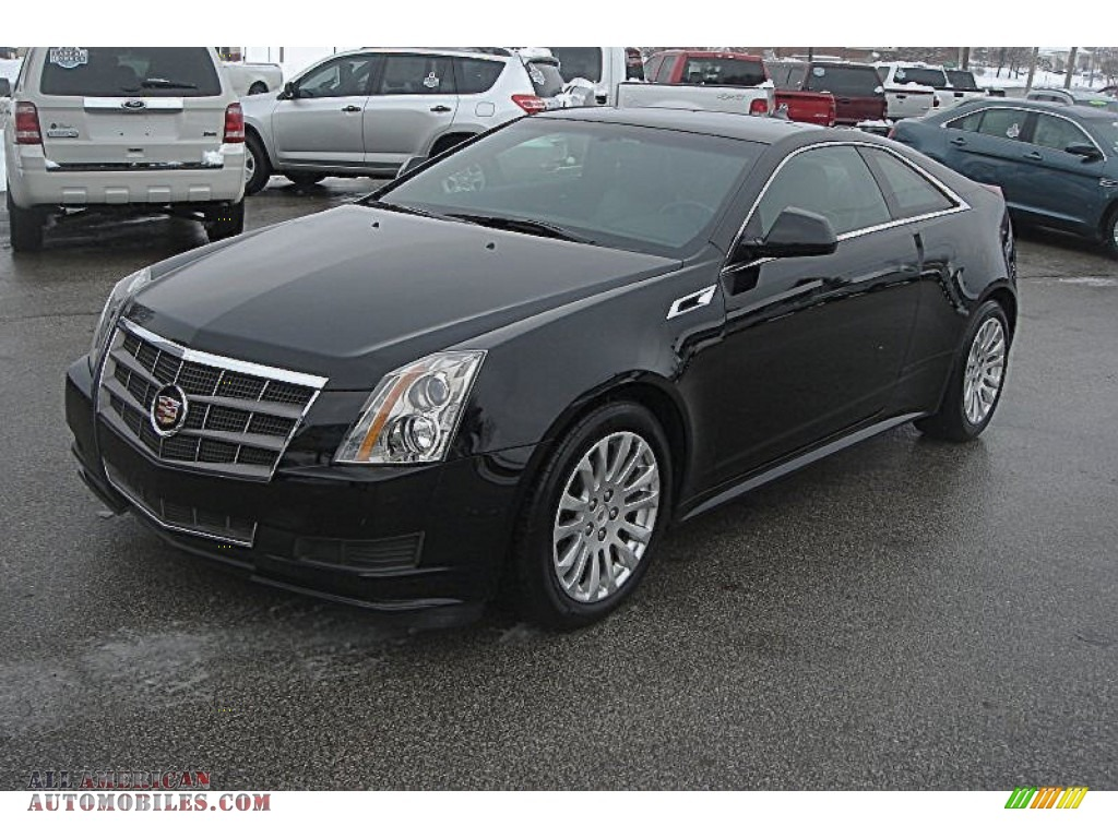 2011 CTS Coupe - Black Raven / Ebony photo #1