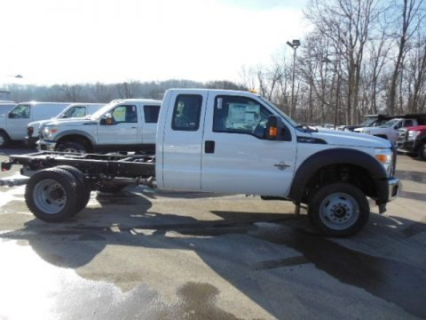 Oxford White 2013 Ford F550 Super Duty XL SuperCab 4x4 Chassis