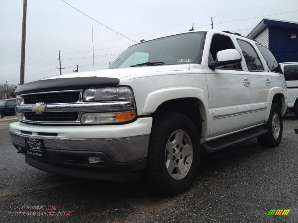 2005 chevrolet tahoe z71 4x4 in summit white 190588 all american automobiles buy american. Black Bedroom Furniture Sets. Home Design Ideas