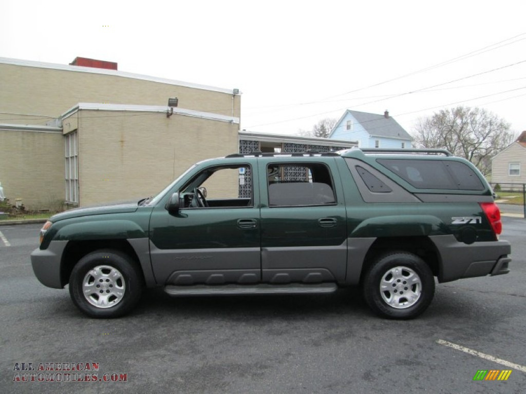 2002 chevrolet avalanche z71 4x4 in forest green metallic 307299 all american automobiles. Black Bedroom Furniture Sets. Home Design Ideas