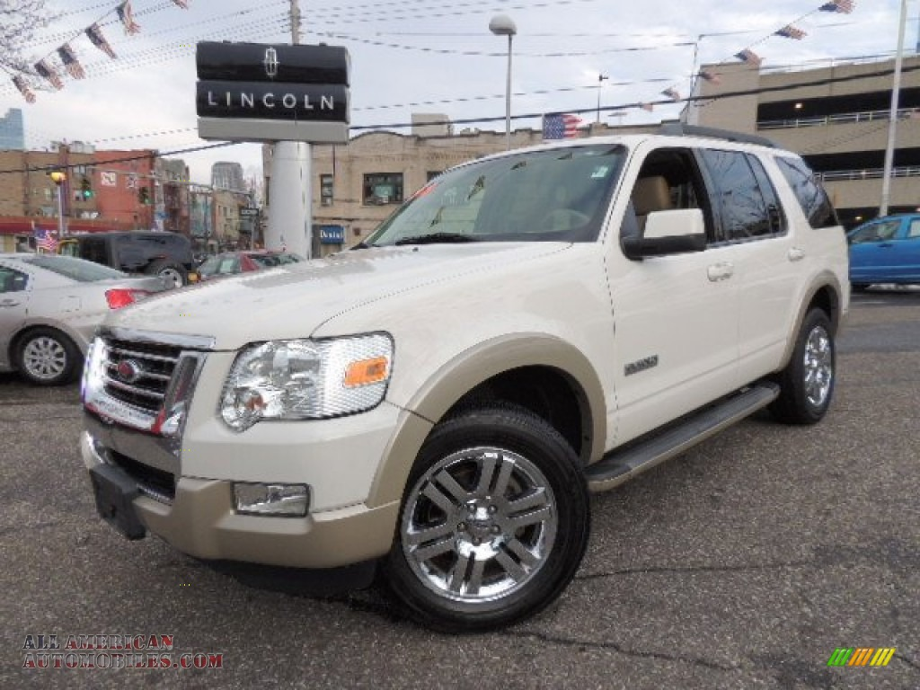 2008 ford explorer eddie bauer 4x4 in white suede a58625 all american automobiles buy. Black Bedroom Furniture Sets. Home Design Ideas