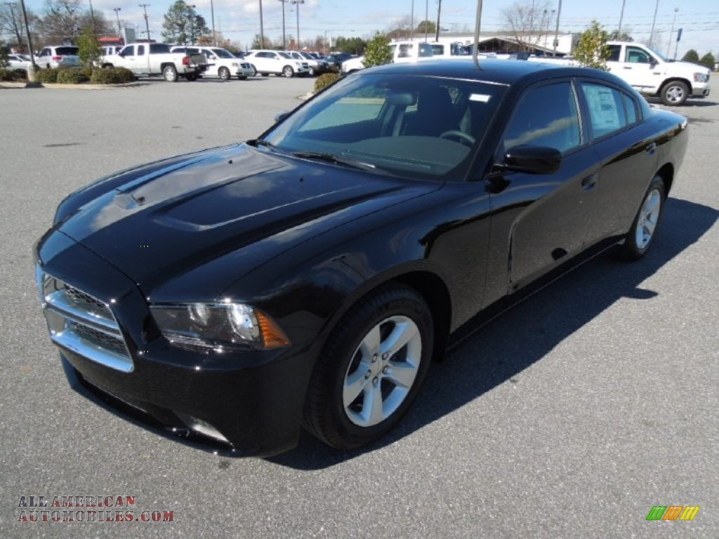 2013 dodge charger se in pitch black 550282 all american automobiles buy american cars for. Black Bedroom Furniture Sets. Home Design Ideas
