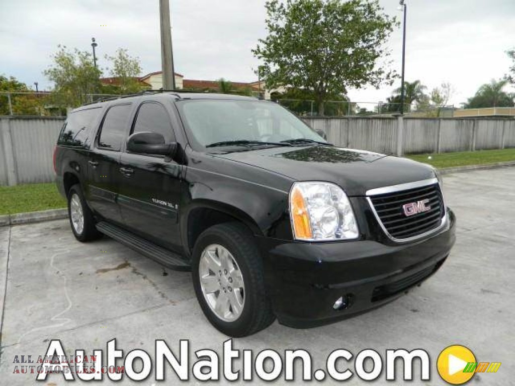 2008 gmc yukon xl slt in onyx black 231343 all. Black Bedroom Furniture Sets. Home Design Ideas