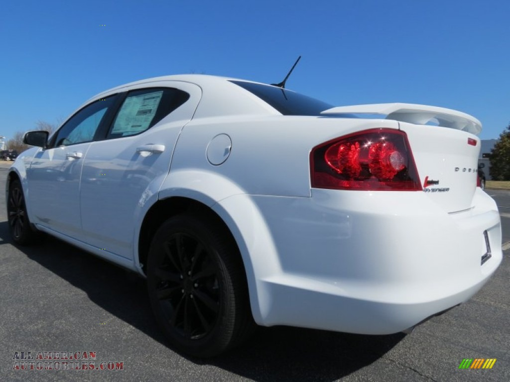 2013 Dodge Avenger SXT V6 Blacktop in New Bright White ...