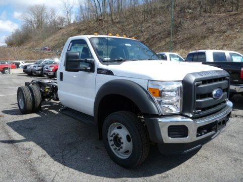 Oxford White 2013 Ford F450 Super Duty XL Regular Cab 4x4 Chassis