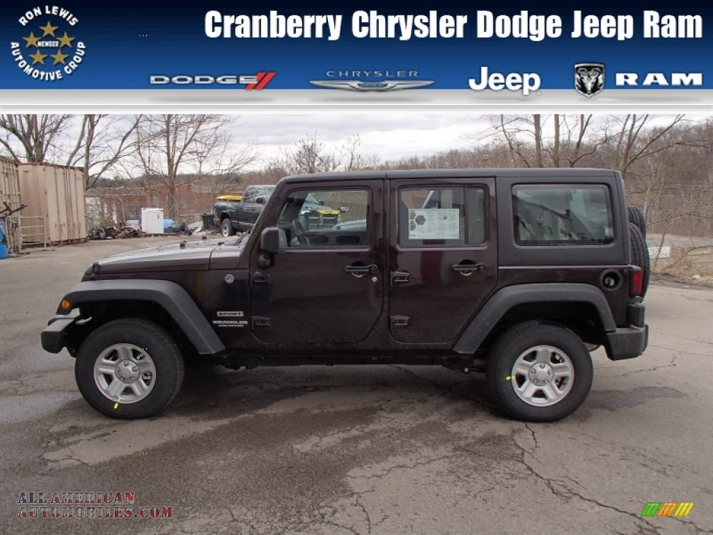2013 Jeep Wrangler Unlimited Sport 4x4 In Rugged Brown