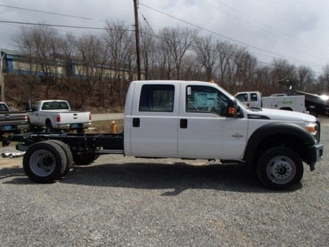 Oxford White 2013 Ford F550 Super Duty XL Crew Cab Chassis 4x4