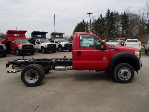 Vermillion Red 2013 Ford F550 Super Duty XL Regular Cab Chassis 4x4