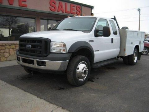 Oxford White 2007 Ford F450 Super Duty XL Regular Cab 4x4 Chassis Utility