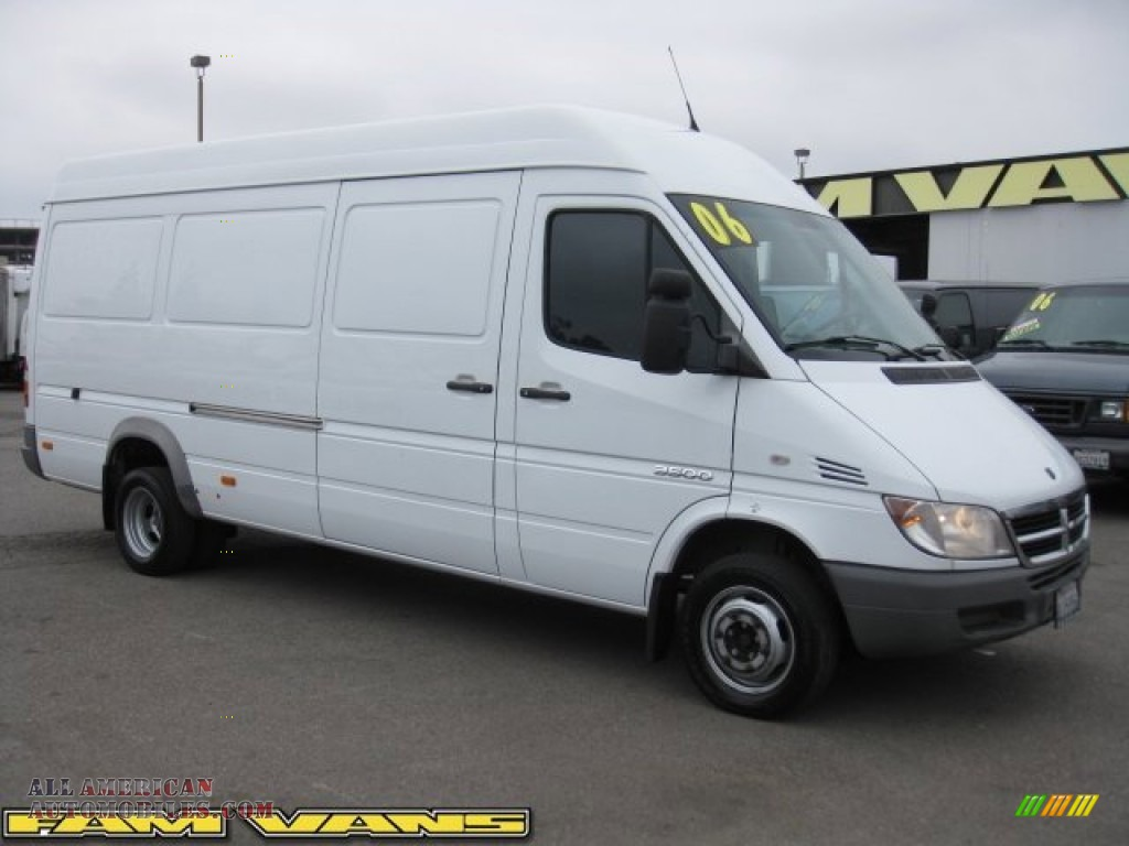 2006 dodge sprinter van 3500 high roof cargo in arctic white photo 8 873404 all american. Black Bedroom Furniture Sets. Home Design Ideas