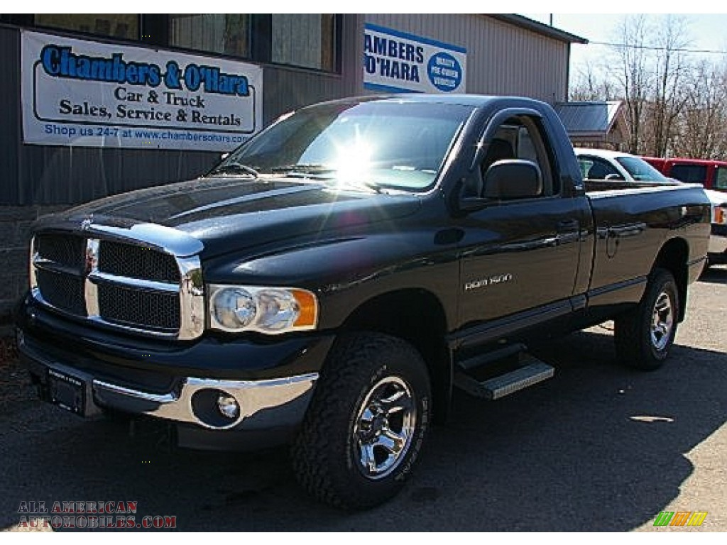 2002 dodge ram 1500 slt regular cab 4x4 in black 227667. Black Bedroom Furniture Sets. Home Design Ideas