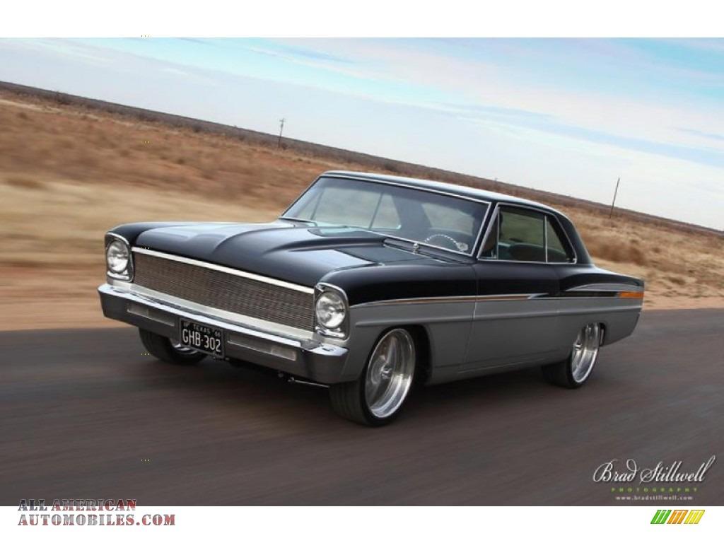 1966 Chevrolet Chevy Ii Nova Restomod In Black Silver Photo 3 Tan