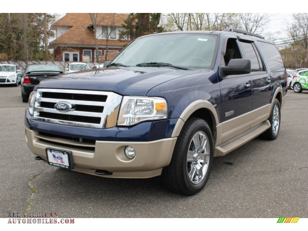 2007 ford expedition el eddie bauer 4x4 in dark blue pearl metallic photo 16 a69394 all. Black Bedroom Furniture Sets. Home Design Ideas