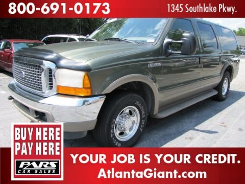 Estate Green Metallic 2000 Ford Excursion Limited