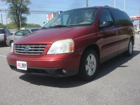 Dark Toreador Red Metallic 2004 Ford Freestar SES