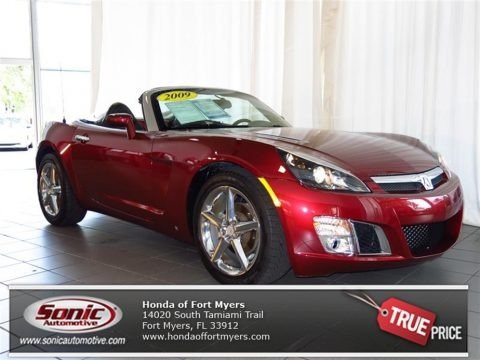 Ruby Red 2009 Saturn Sky Red Line Ruby Red Special Edition Roadster