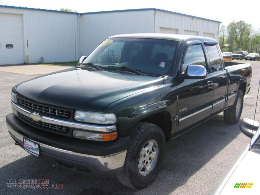 2001 chevrolet silverado 1500 z71 extended cab 4x4 in forest green metallic 148826 all. Black Bedroom Furniture Sets. Home Design Ideas