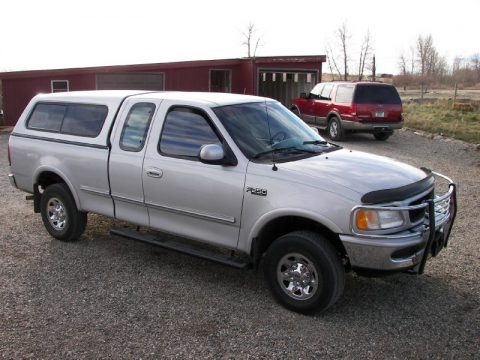 Silver Frost Pearl Metallic 1997 Ford F250 XLT Extended Cab 4x4