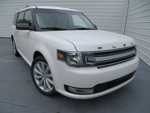 White Platinum Metallic Tri-Coat 2013 Ford Flex SEL