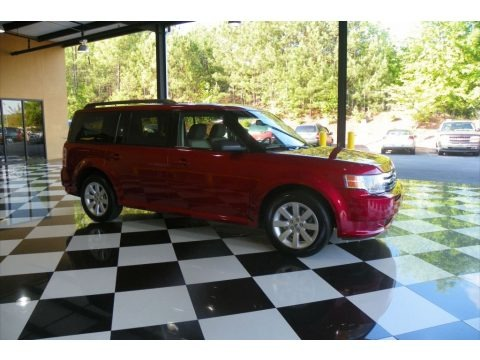 Redfire Metallic 2009 Ford Flex SE