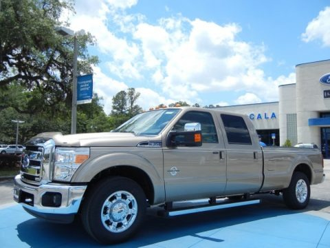 Pale Adobe Metallic 2013 Ford F350 Super Duty Lariat Crew Cab